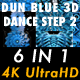 Dun Blue 3D Dance Step 2 Vj Loops Pack - VideoHive Item for Sale