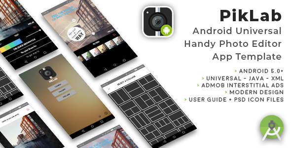 PikLab | Android Universal Photo Editor App Template            Nulled
