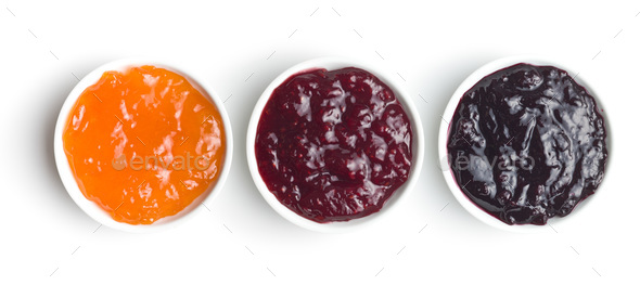 Tasty fruity jam in bowl. - Stock Photo - Images