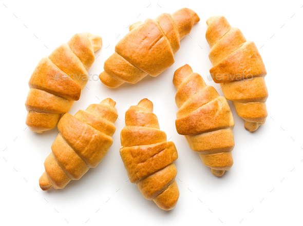 Sweet buttery croissants. - Stock Photo - Images