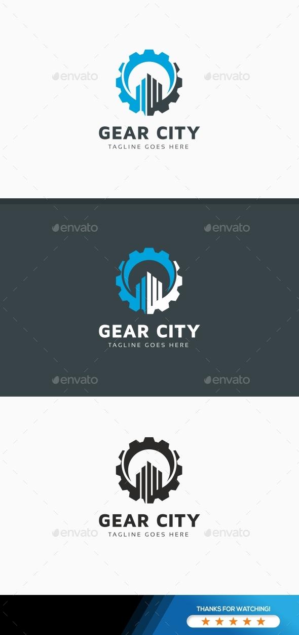 Gear City Logo - Symbols Logo Templates