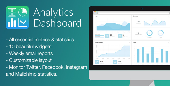 Analytics Dashboard - CodeCanyon Item for Sale