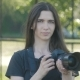 Portrait of Woman Photographer Taking Photos in Park - VideoHive Item for Sale
