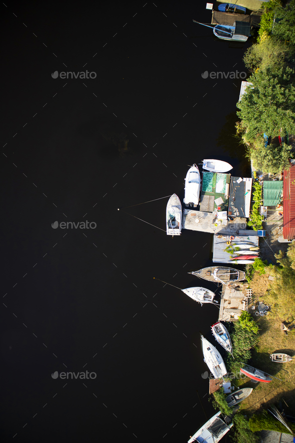 Small port on the lake - Stock Photo - Images