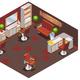 Isometric Barber Shop Interior Concept