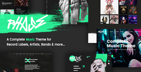 Phase – A Complete Music WordPress Theme for Record Labels and Artists