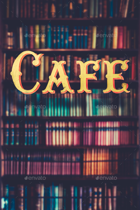 Book Store Cafe - Stock Photo - Images