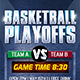 Basketball Playoffs Flyer Template - GraphicRiver Item for Sale