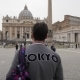Young Man From Tokyo with Backpack in Vatican City and St. Peter's Basilica Church, Rome, Italy - VideoHive Item for Sale