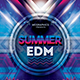 Summer EDM Photoshop Flyer/Poster Template - GraphicRiver Item for Sale