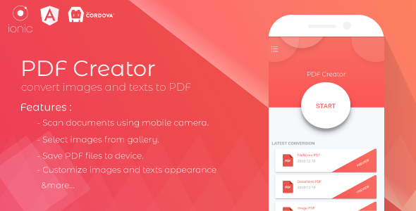 PDF Creator - Scan documents & Convert images to PDF - CodeCanyon Item for Sale