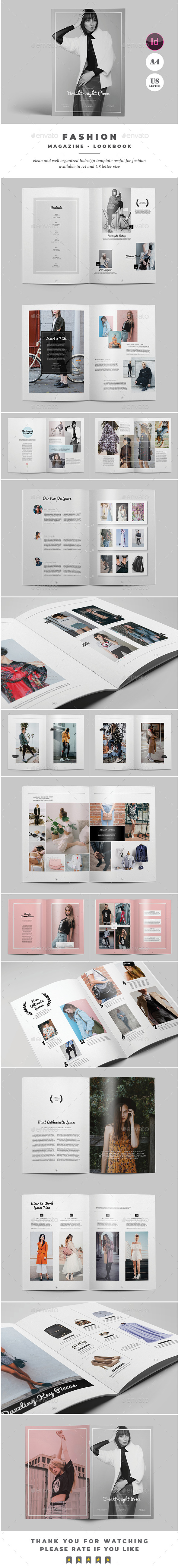 Fashion Lookbook Magazine - Magazines Print Templates