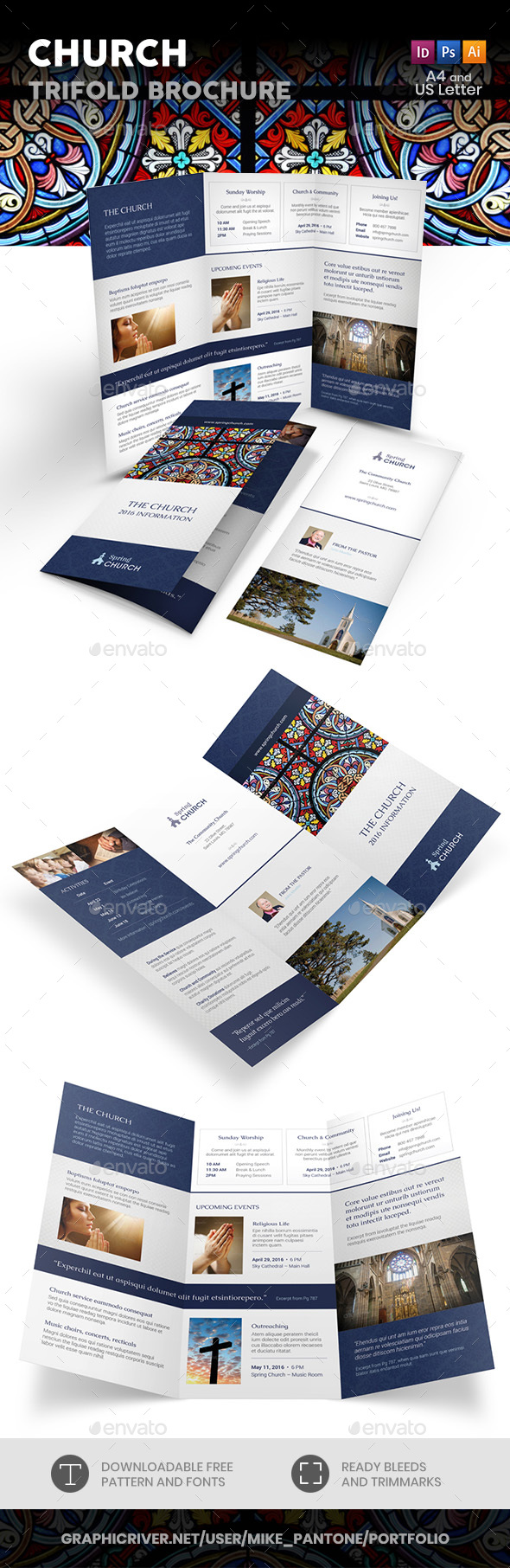 Church Trifold Brochure 3 - Informational Brochures