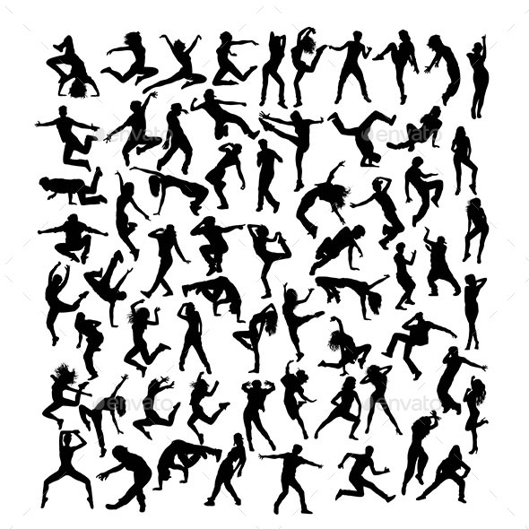 Modern Dancer Silhouettes - People Characters