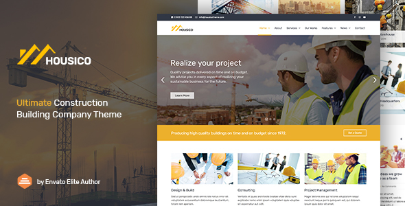 Image of Housico - Ultimate Construction Building Company Theme
