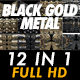 Black Gold Metal Loops Pack - VideoHive Item for Sale