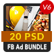 20 Facebook Ad Banners V6 Bundle - AR - GraphicRiver Item for Sale