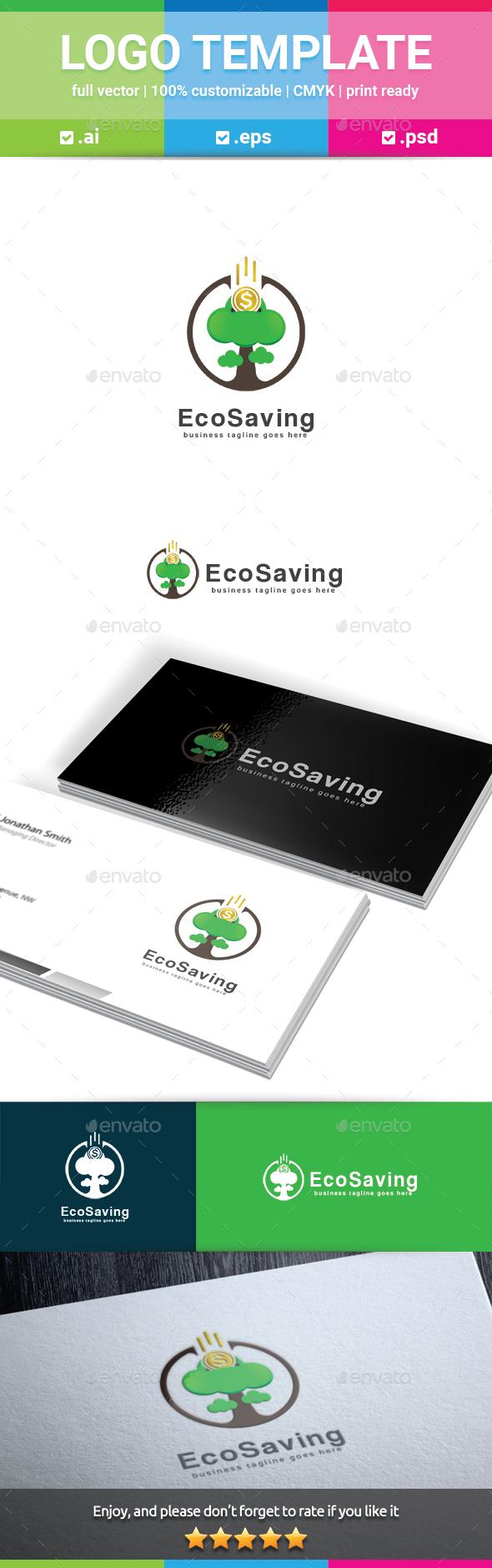 Eco Saving Logo - Nature Logo Templates