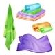Spa Colored Towel Set