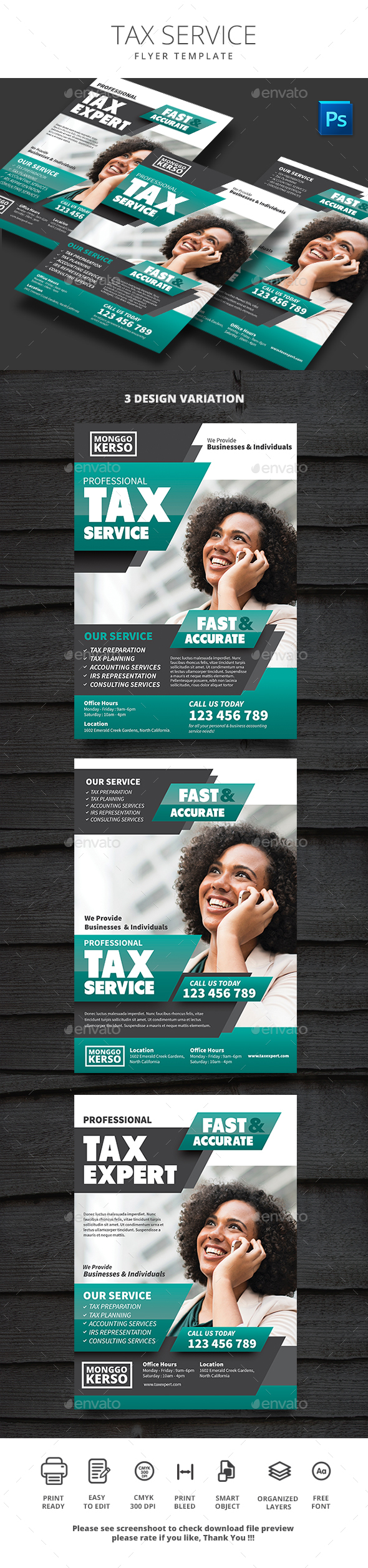 Tax Service - Flyers Print Templates