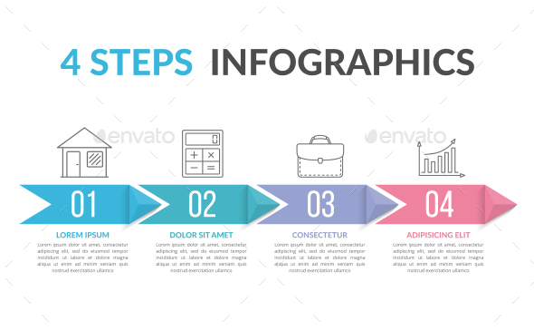 Infographics with Arrows - Infographics
