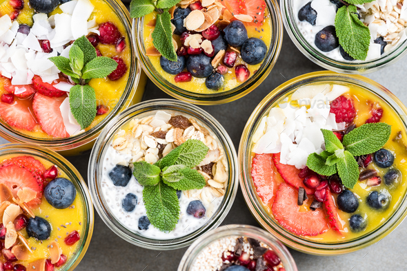 Selection of super healthy food in jars - Stock Photo - Images