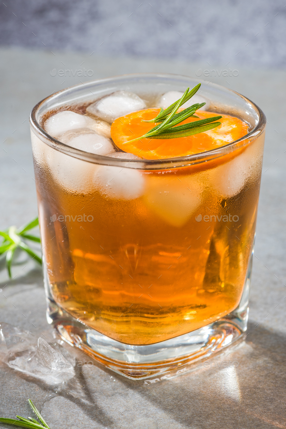 Ice cold tea for summer garden party - Stock Photo - Images