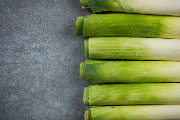 Spring season fresh leek vegetable - Stock Photo - Images