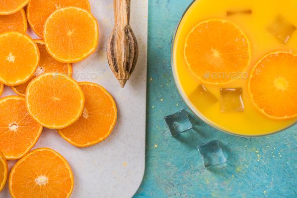 Making homemade orange juice - Stock Photo - Images