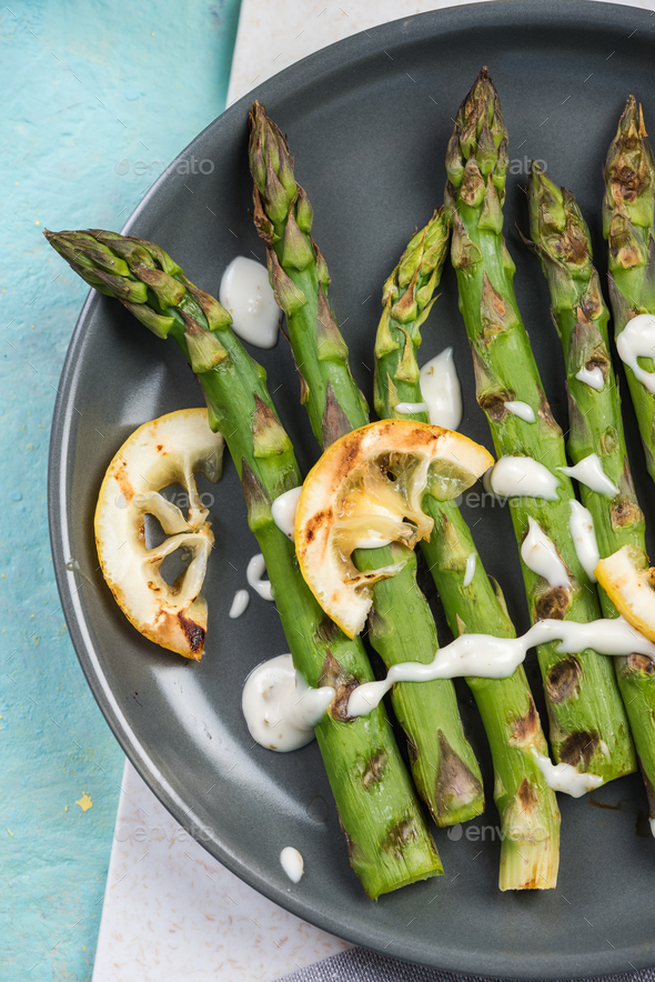 Grilled healthy new spring season vegetables - Stock Photo - Images