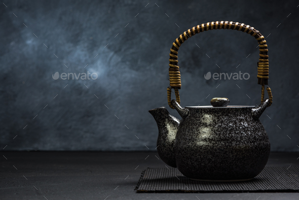 Traditional Asian or Japan Tea Tea Pot - Stock Photo - Images