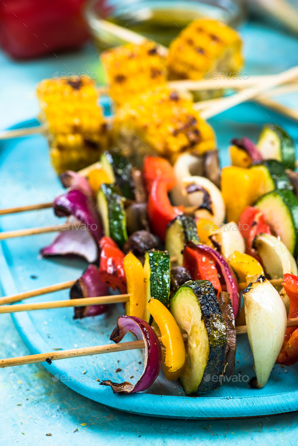 Colorful party food for vegetarians - Stock Photo - Images