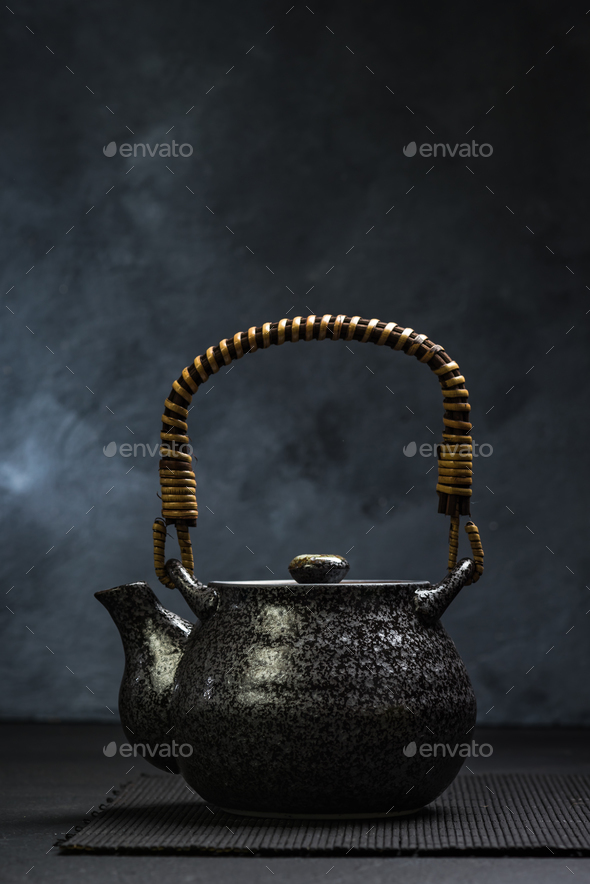 Oriental style ceramic tea pot - Stock Photo - Images