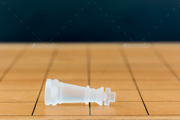 Chess glass on a wood chessboard_-30 - Stock Photo - Images