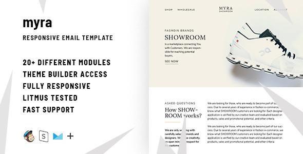 Myra – Responsive Email + StampReady Builder