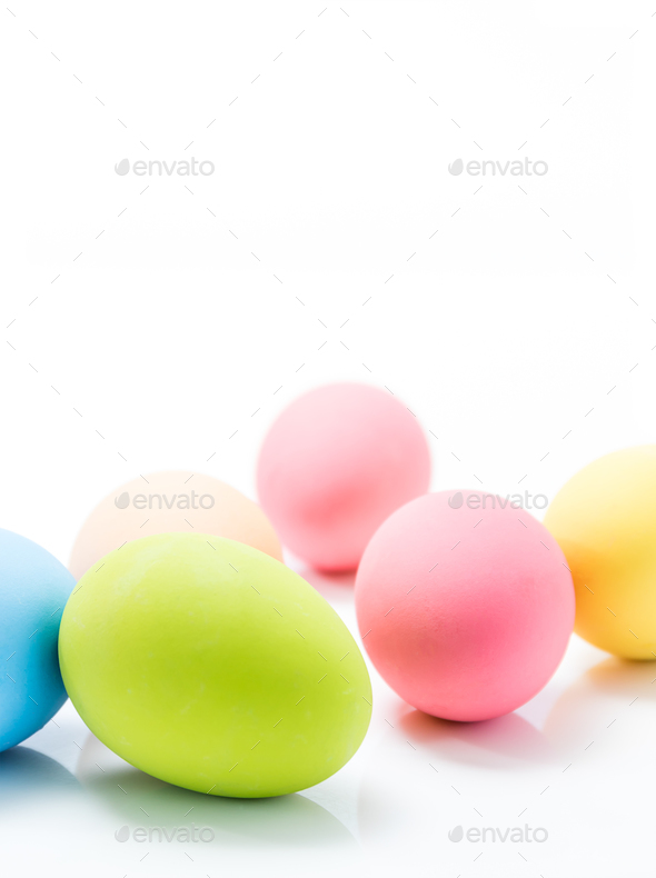 Easter eggs on white-5 - Stock Photo - Images