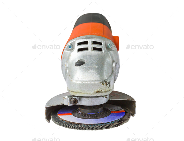 Power grinder cutout on white background - Stock Photo - Images