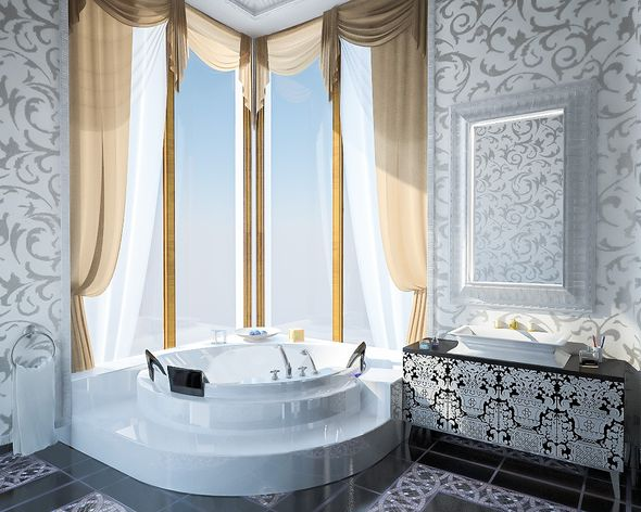 Luxury Bathroom Interior - 3DOcean Item for Sale