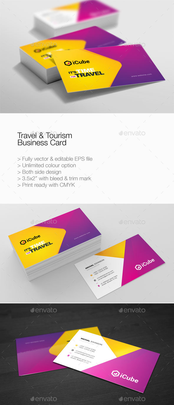 Travel & Tourism Business Card - Corporate Business Cards