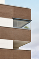 New building exterior facade with terrace. Construction. Buy, rent - PhotoDune Item for Sale