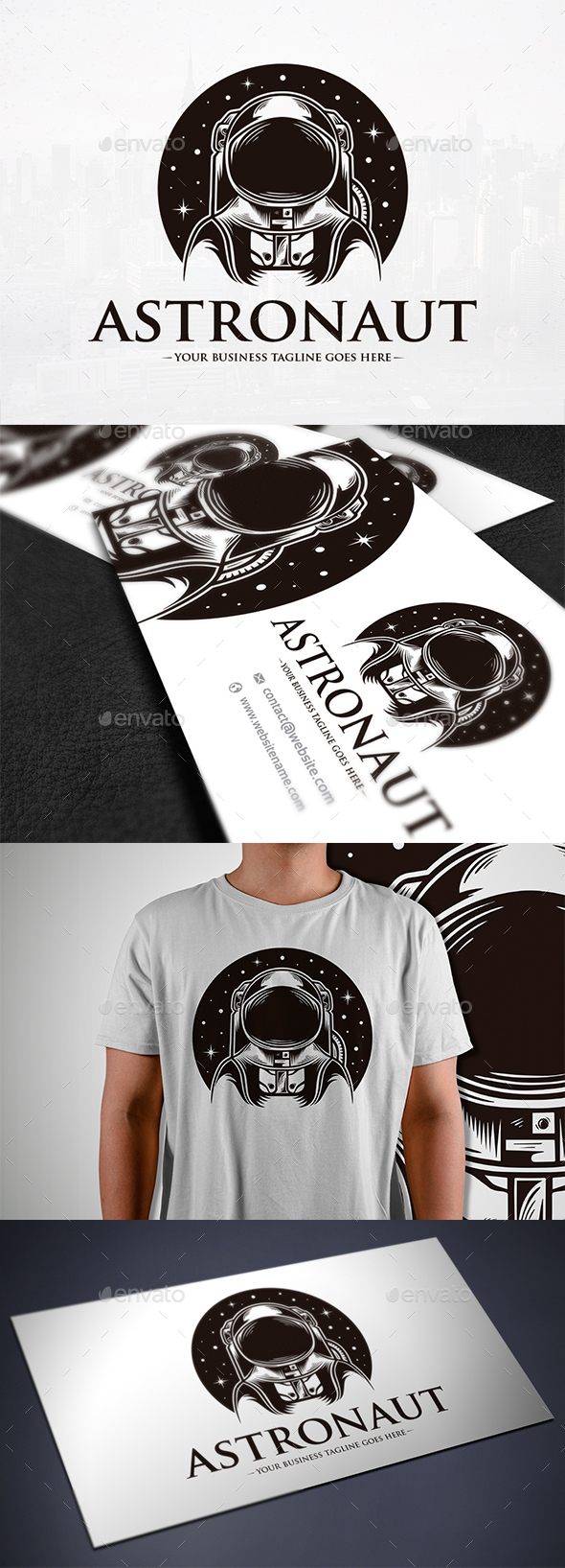Astronaut Space Logo Template - Humans Logo Templates