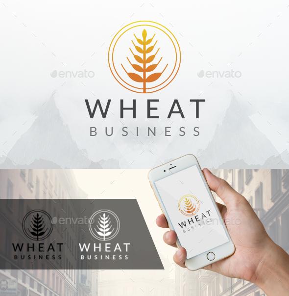 Circular Wheat Logo - Nature Logo Templates