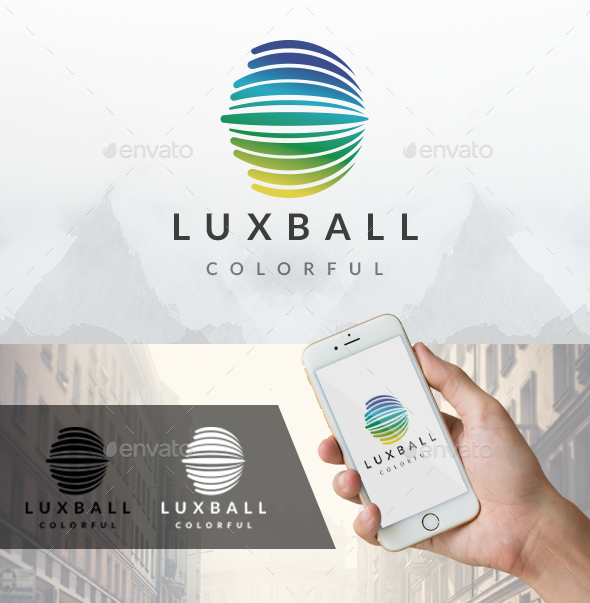 Lux Ball Logo - Vector Abstract