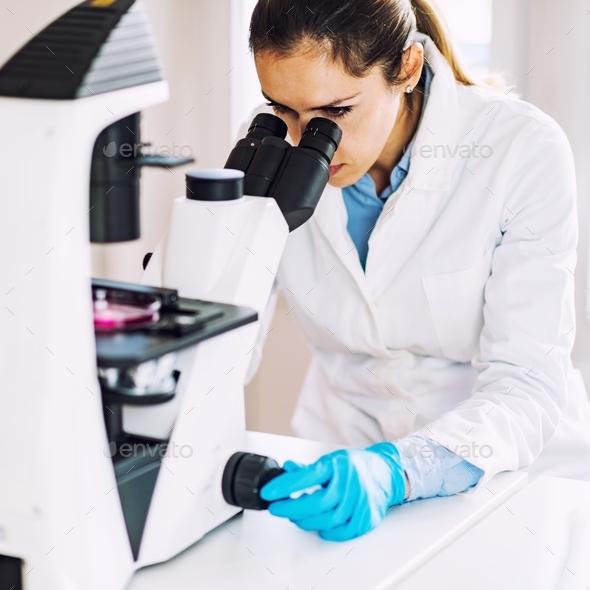 Female scientist - Stock Photo - Images