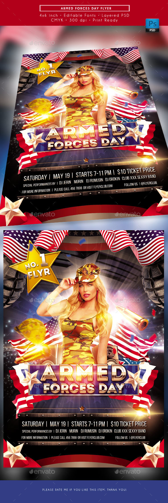 Armed Forces Day Flyer - Events Flyers