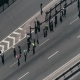 Aerial Drone Fooage of Marathon Running on Street - VideoHive Item for Sale