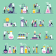 Science Lab Flat Icons - GraphicRiver Item for Sale