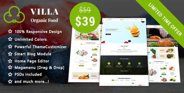 Image of Villa - Organic Food Responsive Prestashop 1.7 Theme