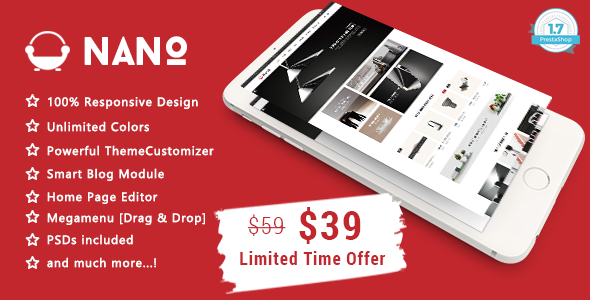 Nano – Minimalist Furniture Responsive Prestashop 1.7 Theme