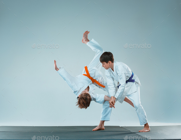 The two boys fighting - Stock Photo - Images